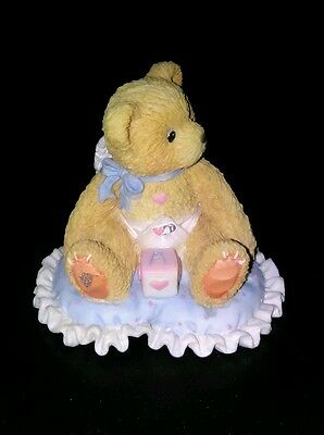 "Cherished Teddies Baby Boy  Figurine ☆Retired☆  ""Little Bundle of Joy"""