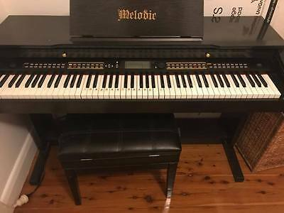 Melodic electric piano keyboard full 88 keys with stool and cover