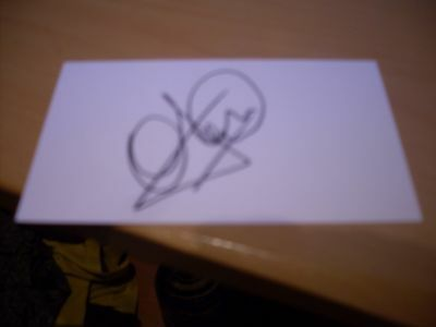 signed card of ex manchester united and england  footballer andy cole