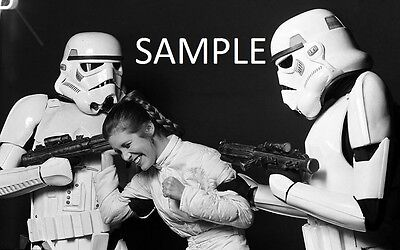 "Set Of 20 Star Wars Behind The Scenes 6"" x 4""  B&W Photo Prints Carrie Fisher"