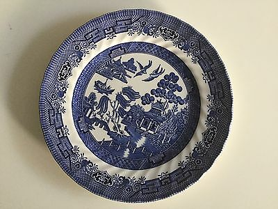 Willow Wave Plate Vintage Crown Clarence