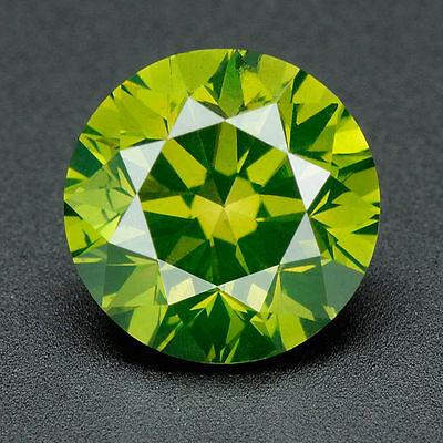 .051 ct BUY CERTIFIED Round Cut Vivid Green Color Loose Real/Natural Diamond#t21
