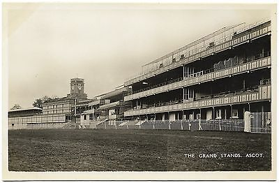 The Grand Stands Ascot b&w real photo - unused 1930's