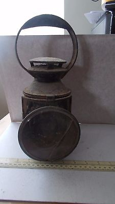Antique Tin Traction Engine Lamp.  Barn Stored For Years. Sold As Seen.