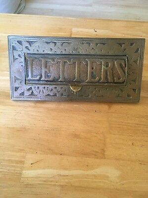 1930s Antique Brass Letter Box
