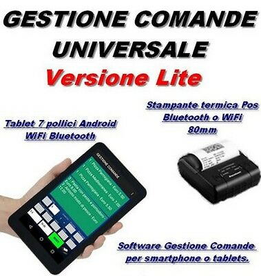 "gestione comande + tablet 7"" + stamp. termica BT, pizzerie, ristor. gelater. etc"