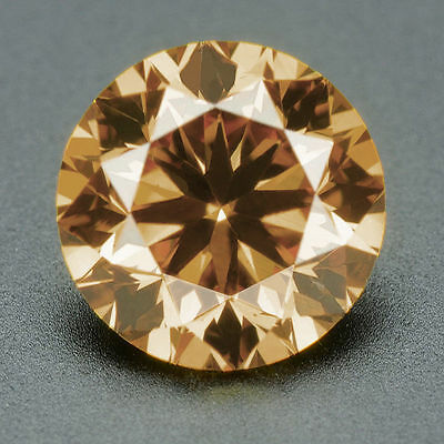 CERTIFIED .072 cts. Round Cut Champagne Color SI Loose Real/Natural Diamond #t37