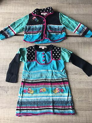 Ensemble Robe Gilet Kenzo Kids 12 Mois 1 An TBE