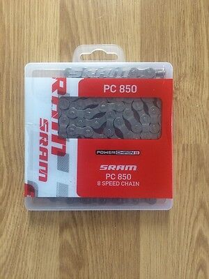 SRAM PC-850 PowerChain II - 8 Speed Road / Mountain Bike Chain PC850