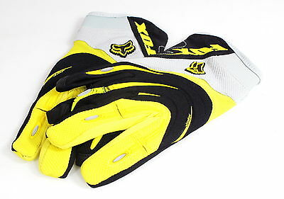 Fox Strafer Mountain MTB Bicycle Bike Cycling Full Finger Gloves Yellow XXL size