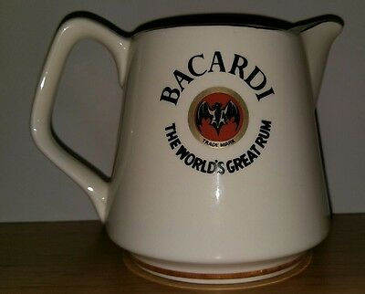 Bacardi Rum Water Whiskey Jug Perfect for any collection bar or man cave