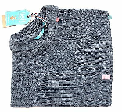 lief! lifestyle Girls Poncho  gr. 80 / 12 Monate jeans blue