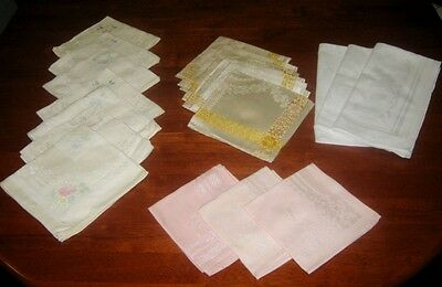 Vintage Damask Napkins ~ Bulk Lot ~ 19 Pieces