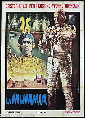 La Mummia Manifesto Cinema Christopher Lee Horror Mummy Rare Movie Poster 4F