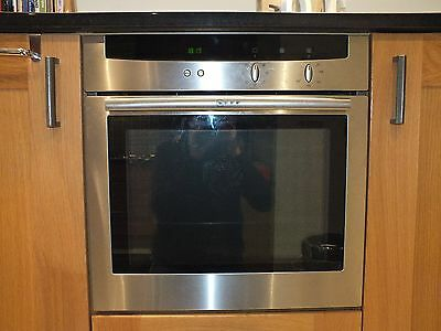Neff Stainless Steel Built In Single Oven B1422N0GB plus Neff electric hob