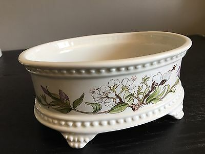 Vintage Royal Winton Pretty Floral / Blossom Footed Oval Dish