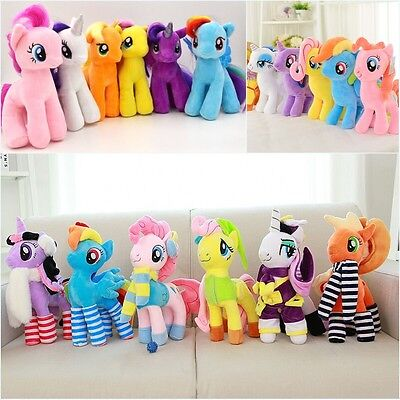 """New  7""""9""""16""""My Little Pony Toys Figures Stuffed Plush Soft Teddy Doll Toy Gift"""