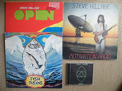 3 x Steve Hillage Vinyl LP`s and 1 x CD