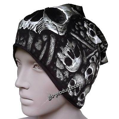 New Catacomb Beanie skulls and bones knit hat ride free printed lightweight goth