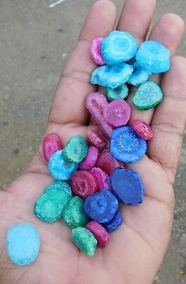 129.00 Cts Dyed A++ Stately Baby Solar Druzy Agate Mix Lot Cab Gemstone