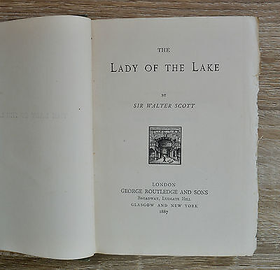 The Lady of the Lake by Sir Walter Scott 1887