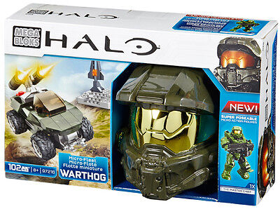 Mega Bloks Halo Micro-Fleet Warthog Attack Collectible Helmet Brand New 97216