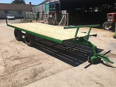 Bale Trailer Flatbed Hay Straw Silage Haylage Grass Farm Contractor
