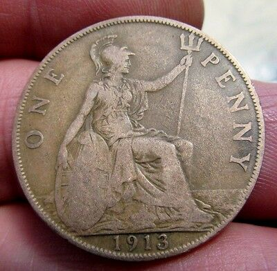 1913 One Penny King George V th