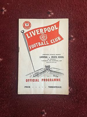 Liverpool v Bristol Rovers Programme, 26th October 1957
