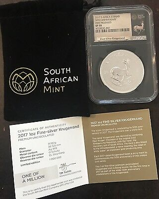 2017 Krugerrand FR NGC SP70 Silver Africa 50th Anniversary Specimen Proof ~Rare~