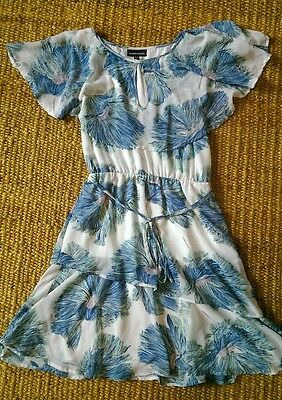 Warehouse size 8 dress, blue floral. Summer / wedding / occasion
