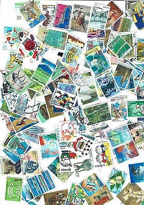 Japanese Commemorative + Prefecture Stamps x 100 used
