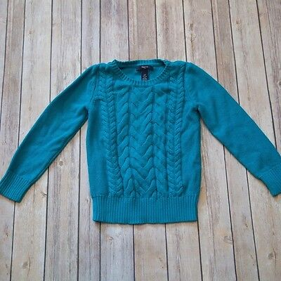 GAP Kids Blue Cable Knit Sweater Long Sleeve Little Girls Size Small 6/7