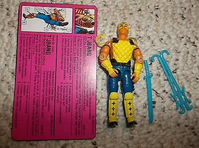 T'JBANG v1 1992 G.I. JOE FIGURE 100% COMPLETE WITH FILECARD