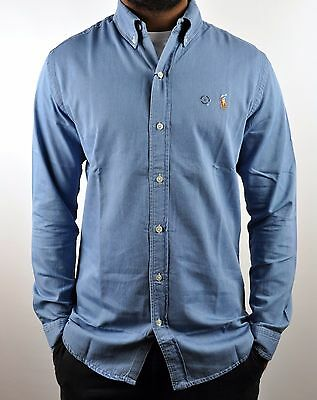 Polo Ralph Lauren Chambray Slim Fit Denim L/S Shirt For Men