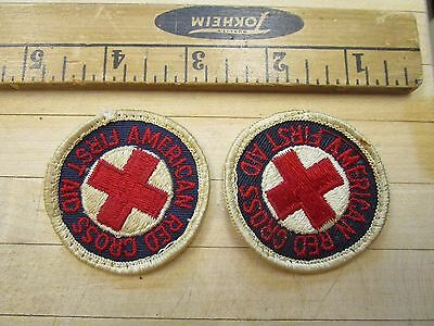 Lot Of 2 Vintage U.S. RED CROSS First Aid PATCH, PIN, INSIGNIA
