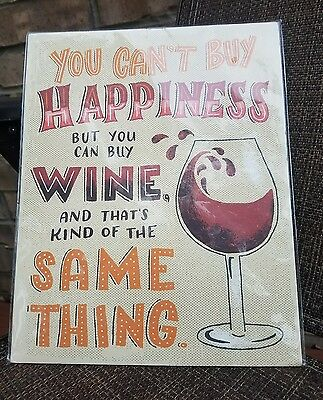 Studio Oh! Art Print You Can't Buy Happiness But You Can Buy Wine And That's