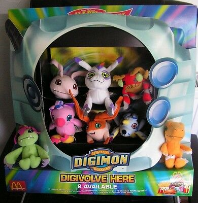 DIGIMON - MCDONALDS DIORAMA - Complete with All 8 Toys - Vintage 2001 - RARE