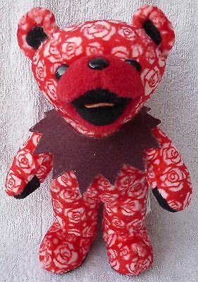 Grateful Dead Beanie Bear Beauty 11/70 Red/Pink Roses Soft Plush Toy Liquid Blue