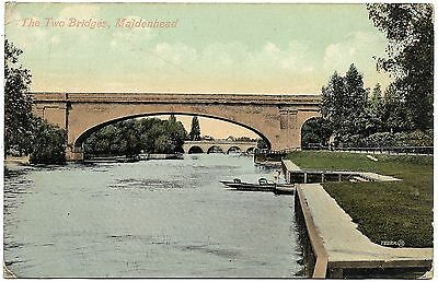 The Two Bridges Maidenhead postmark 1907 - Valentine's