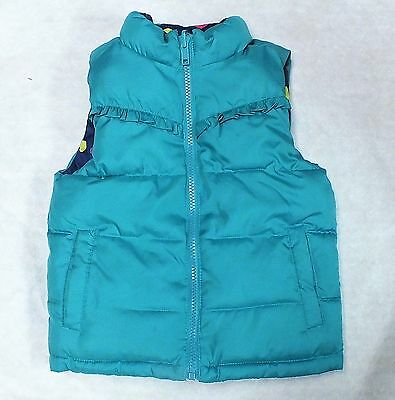 HEALTHTEX GIRL REVERSIBLE VEST SIZE -3T AQUA / BLUE 3T Aqua/Blue COLOR HEARTS