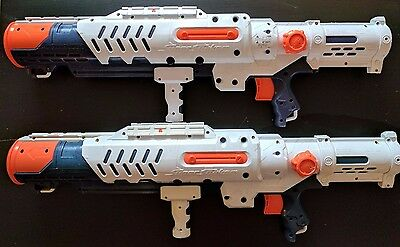 Lot of 2 Nerf Super Soaker Hydro Cannon Water Gun Blaster Used Pump Action 2010