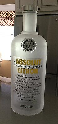 Giant Absolut Citron Vodka Display Bottle Plastic or Acrylic Rare