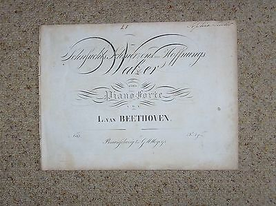 Beethoven Early Edition Piano Music. Three Waltzes.