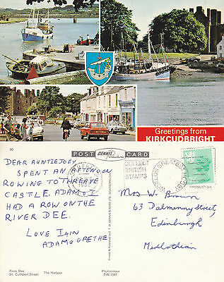 1982 Multi Views Of Kirkcudbright Kirkcudbrightshire Scotland Colour Postcard