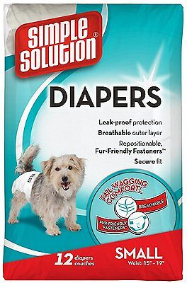 Simple Solution Disposable Diaper/Nappy for Dogs/Puppies small * Brand New *