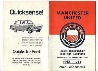 Manchester United 1965/66 Yearbook