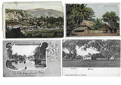 NETHERLANDS DUTCH INDIES Asia Lot 8 Early Postcard Preaanger Buitenzorg Aloon