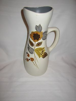 Vintage very retro Ellgreave pottery 'Zinca' tall jug vase - good condition