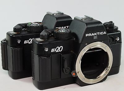 Vintage Job Lot Of 2 Praktica BX2 Bodies Only,  Non Working Order. Spare/Repair.